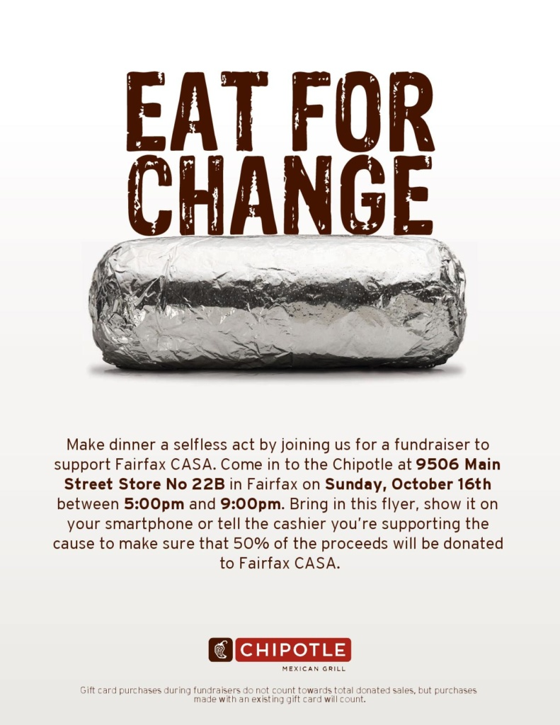 Chipotle flier to be presented in-person